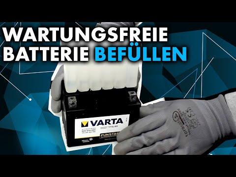 Anleitung: Wartungsfreie Motorrad Batterie befüllen