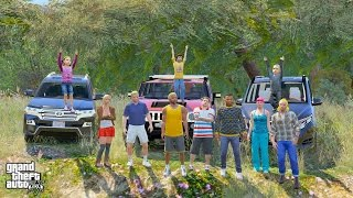 GTA 5 REAL LIFE MOD #266 FAMILY OFF ROAD TRIP TO THE JUNGLE!