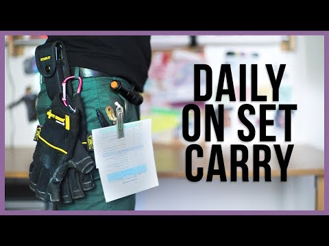 5 things to carry on set when shooting a film