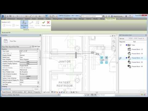 Revit 2017 – Fabrication Layout