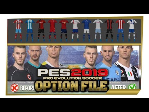 PES 2019 PC - Tutorial How to Import Option File [Real Names, Kits