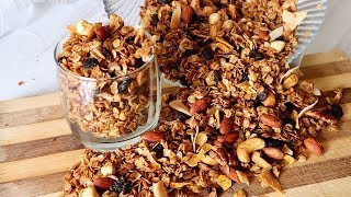 How To Make The Best Healthy Granola At Home😋
