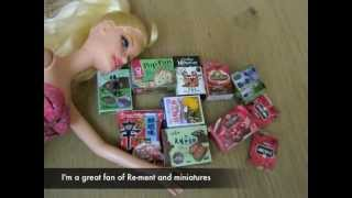 ♛How to DIY cute miniatures for Barbie dolls*自己做獨一無二的食玩