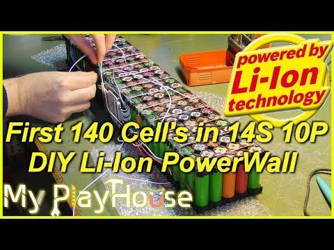 DIY Powerwall - First Pack 14S 10P 18650 Li-Ion Cells - 575
