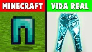 CALÇA DE DIAMANTE !! - MINECRAFT vs VIDA REAL