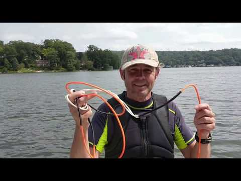 Hyperlite Wakeboard Rope Review. Wakeboarding rope snaps and camerawoman gets sick. Viewer Advisory.