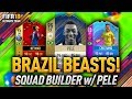 BRAZIL BEASTS! w/ 95 PELE & 95 NEYMAR! FIFA 18 ULTIMATE TEAM!
