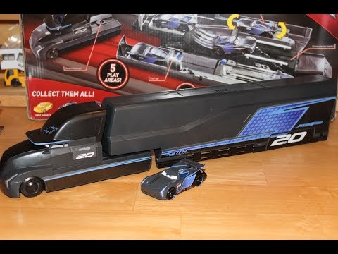Mattel Disney Cars 3 Jackson Storm's Hauler (Gale Beaufort) Transforming Playset