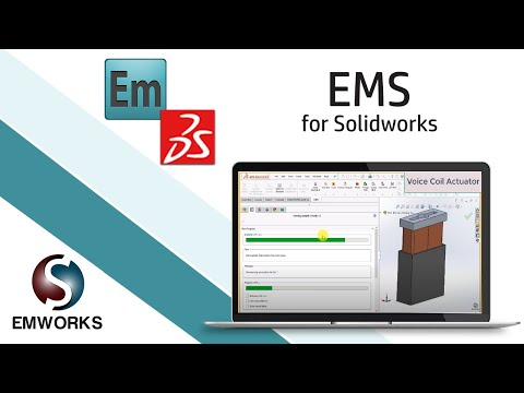 Electro-Thermo-Dynamic Simulation of a Voice Coil Actuator Using EMS and SOLIDWORKS (1/3)