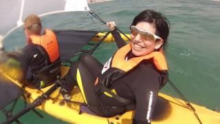 שייט בקיאק טרימירן מפרשית - רון & אביגיל - לפרטים 03-6521878
