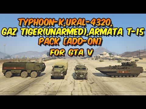Gaz Tiger(Unarmed), Ural-4320,Typhoon-K,Armata T-15 Pack [Add-On]
