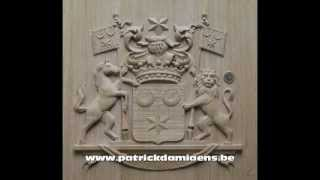Woodcarving | FAMILY COAT OF ARMS CARVED IN WOOD |  Family Crest | Heraldry In Wood