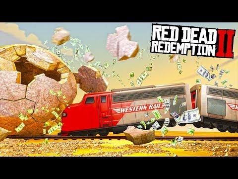 ОСТАНОВИЛИ ПОЕЗД И ОГРАБИЛИ! СМОГЛИ РАЗГРОМИТЬ ВЕСЬ ПОЕЗД - СУПЕР ОГРАБЛЕНИЕ В RED DEAD REDEMPTION 2