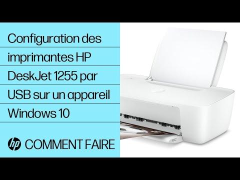 Configuration des imprimantes HP DeskJet série 1255 par USB sur un appareil compatible Windows 10