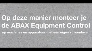 Installatievideo Equipment Control (eigen stroombron)