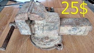 Тиски с металлома, восстановление. Vise Restoration USSR