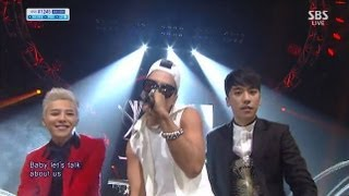 [승리] -Let's talk about love(Feat. G-Dragon, 태양) @인기가요 inkigayo 130915