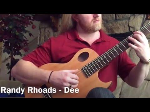 "Classical guitar performance of ""Dee"" - written by Randy Rhoads"