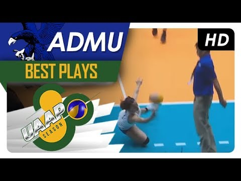 UAAP 80 WV: Dani Ravena's one-handed save leads to a kill-block for Ateneo! | ADMU | Best Plays