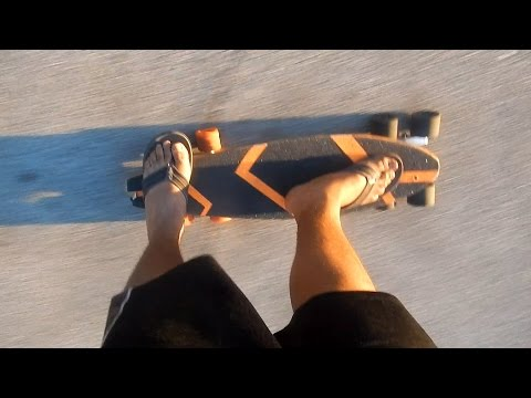 tandem trucks on skate board setup and test (28)