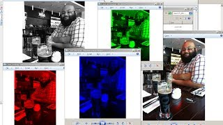 Creating Color Shifts and Grayscale Images using QImage
