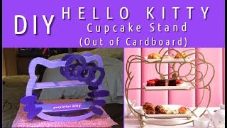 DIY Hello Kitty | Cupcake Stand (Out Of Cardboard)