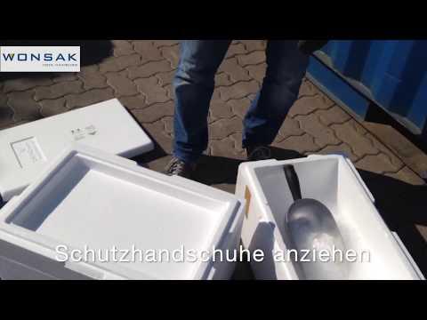 Styroporbox mit Trockeneisfach - Kühlen mit Trockeneis