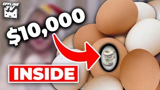 OFFLINETV $10,000 EASTER EGG HUNT CHALLENGE- SMASHING EGGS ON OURSELVES w/ POKI, LILY, SCARRA, TOAST