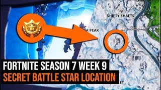 Fortnite Season 7 Week 9 Secret Battle Star Location