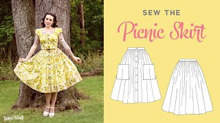 Sew the Picnic Skirt (Easy No-Pattern Skirt for Any Size!) Gertie's World