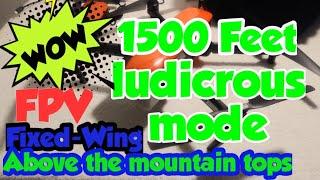 Autel Evo ludicrous mode/fpv fixed-wing Desert Mountain Flight