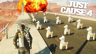 Blowing Up Bridges With Explosive Llamas In Just Cause 4