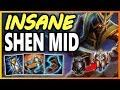 HOW TO PLAY AP SHEN MID SO FUN Season 9 Shen Mid vs Zed Gameplay Unranked to Challenger EP 3