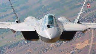 Уникальная съемка полета новейших Су-57 — кадры с рампы Ан-12