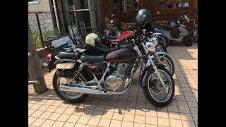 シングルエンジン始動 美人ライダー カワサキレディー  kawasaki ESTRELLA 250 CAFE RACER Suzuki ST250E-type NJ4CA
