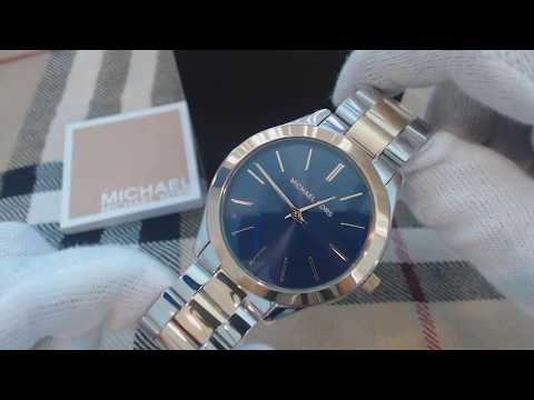 Women's Michael Kors Slim Runway Silver And Gold Watch MK3479
