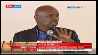 MOI IN EMBU: Senator Gideon Moi talkes about the benefits of quality education in Kenya