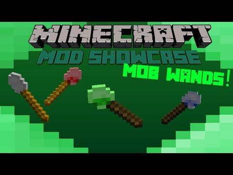 Minecraft Mod Showcase- MOB WANDS! CONTROL MOBS!!