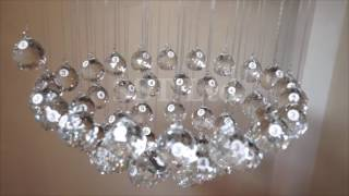 CRYSTOP Fantastic Raindrop Crystal Chandelier With Detailed Installation Procedures