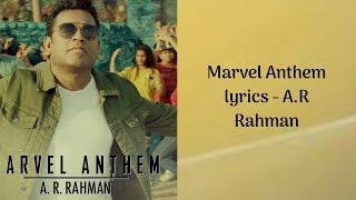 Marvel anthem lyrics - AR Rahman - YouTube