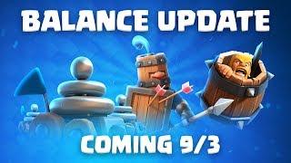 Clash Royale: Balance Update Live! (9/3)