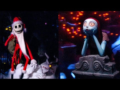 Haunted Mansion Holiday 2018 Complete Ride POV Nightmare Before Christmas Disneyland