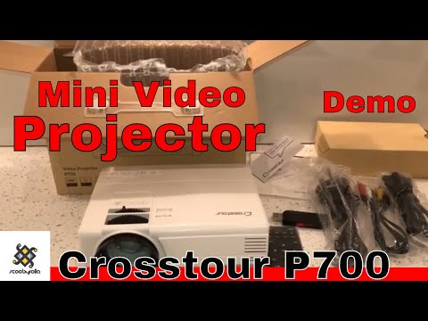Crosstour P700 Video Projector Review & Unboxing
