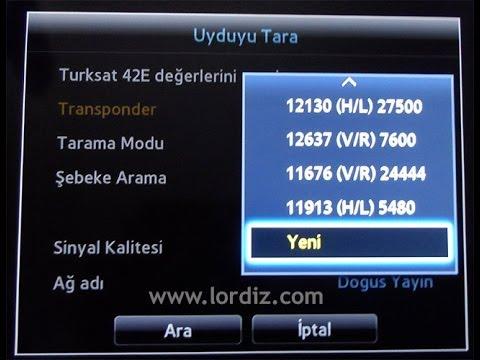 Samsung Smart TV Uydu Ayarlama