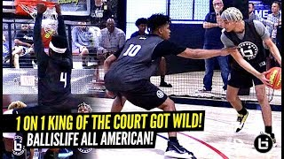Ballislife 1 on 1 King of The Court Got CRAZY!! Hoodie Rio SHOCKS EVERYONE! Boogie & Tre SNAP!!