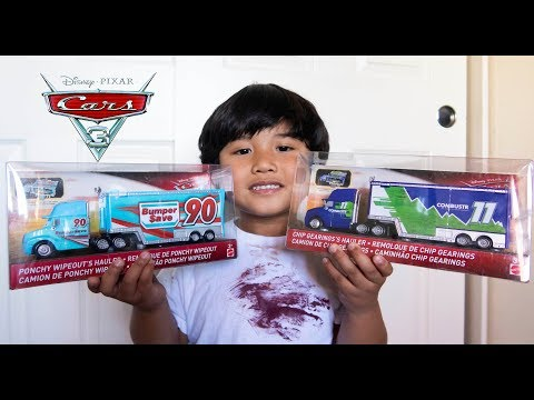 Unboxing NEW 2018 Disney Cars 3 Toys COMBUSTR & BUMPER SAVE HAULER CARS Toy Review