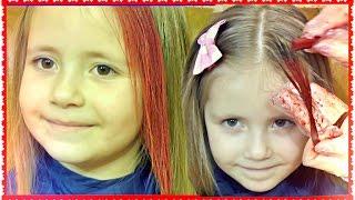 КАК ПОКРАСИТЬ ВОЛОСЫ МЕЛКОМ ПАСТЕЛЬЮ 🌺 DIY Temporary Hair Color TUTORIAL FOR KIDS 💇 Mom and daughter