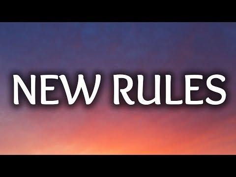 Dua Lipa ‒ New Rules (Lyrics / Lyric Video)