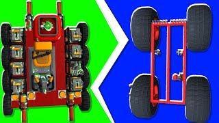 Noob VS. Pro 2-Player Controlled Car Race - Scrap Mechanic | JeromeACE
