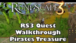 RS3 Quest Guide  Pirates Treasure   2017(Up To Date)